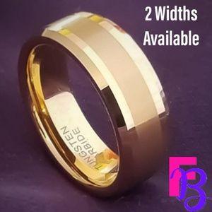 😀 8MM | 6MM Gold Tungsten Ring